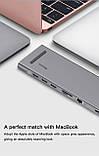 Адаптер Baseus Enjoyment Series Type-C Notebook HUB Adapter (CATSX-F0G)., фото 7