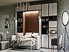 Встроенная в стенку, шкаф кровать трансформер для спальни