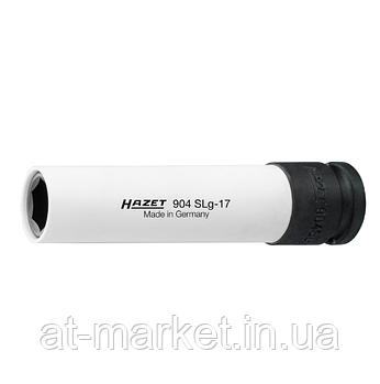Головка HAZET длинная 130мм, 6-гранная для ударных гайковертов, 17мм, 904SLG-17