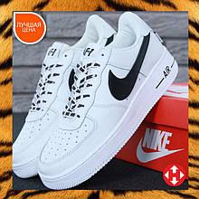 🔥 Кроссовки мужские повседневные Nike Air Force White (найк аир форс белые)
