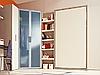 Односпальная шкаф-кровать со шкафом-купе, столом, полками