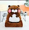 Игрушка плед-подушка 3-в-1,БОБЕР Размер игрушки - 50*35 Размер пледа - 120*165  минималка 5 шт, расцветки