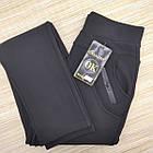 Брюки женские на меху Золото а934-3 с карманами 2XL (42-44) черные 20039479, фото 2