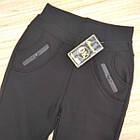 Брюки женские на меху Золото а934-3 с карманами 2XL (42-44) черные 20039479, фото 3