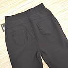 Брюки женские на меху Золото а934-3 с карманами 2XL (42-44) черные 20039479, фото 4