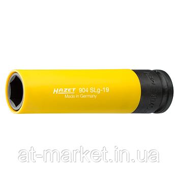 Головка HAZET длинная 130мм, 6-гранная для ударных гайковертов, 19мм, 904SLG-19