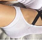 Носки демисезонные для йоги с силиконовой подошвой Neseli Yoga 7373 белые 20033972, фото 2