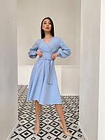 Шикарное классическое платье по колено