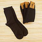 Носки мужские махровые высокие однотонные Рубеж-текс 31р черные 20038601, фото 2