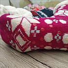 Домашний вязанный носок с набивкой внутри + силиконовые тормоза на стопе YU FENG 39-42р ассорти НЖЗ-010793, фото 2