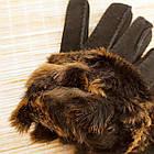 УЦЕНКА перчатки женские замшевые на меху с отворотом размер L случайное ассорти 20038014, фото 3