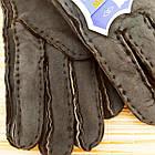 УЦЕНКА перчатки женские замшевые на меху с отворотом размер L случайное ассорти 20038014, фото 4