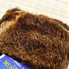 УЦЕНКА перчатки женские замшевые на меху с отворотом размер L случайное ассорти 20038014, фото 5