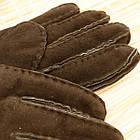 УЦЕНКА перчатки женские замшевые на меху с отворотом размер M случайное ассорти 20038007, фото 3