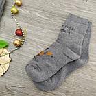 Носки мужские махровые средние новогодние GRAND 27-29р серые, фото 3