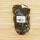 Шапка унисекс шерстяная с козырьком и отворотом хаки 20038670, фото 6