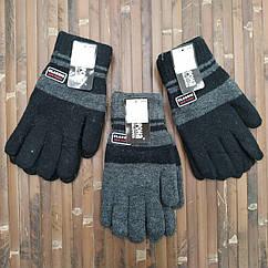Шерстяные перчатки мужские двойные с начёсом Корона 8163 (23см) ПМЗ-160028