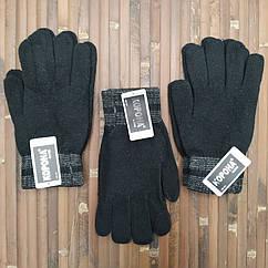 Шерстяные перчатки мужские с начёсом Корона 8181 (25см) ПМЗ-160029