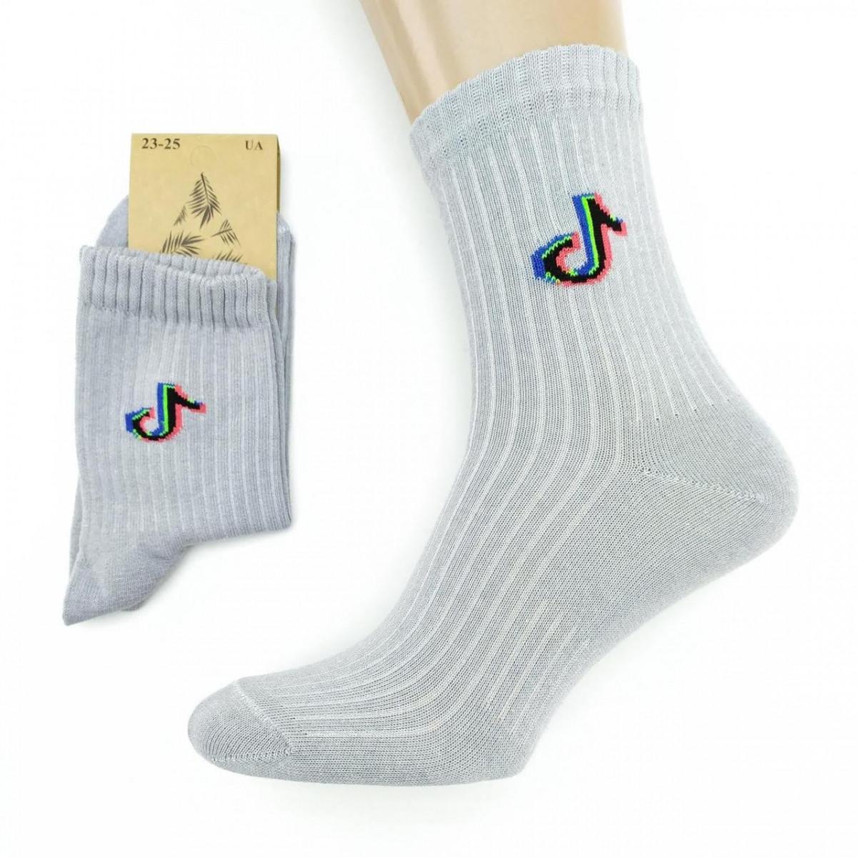 Носки женские демисезонные средние Loft Socks 23-25р Tik-Tok серые 20035358