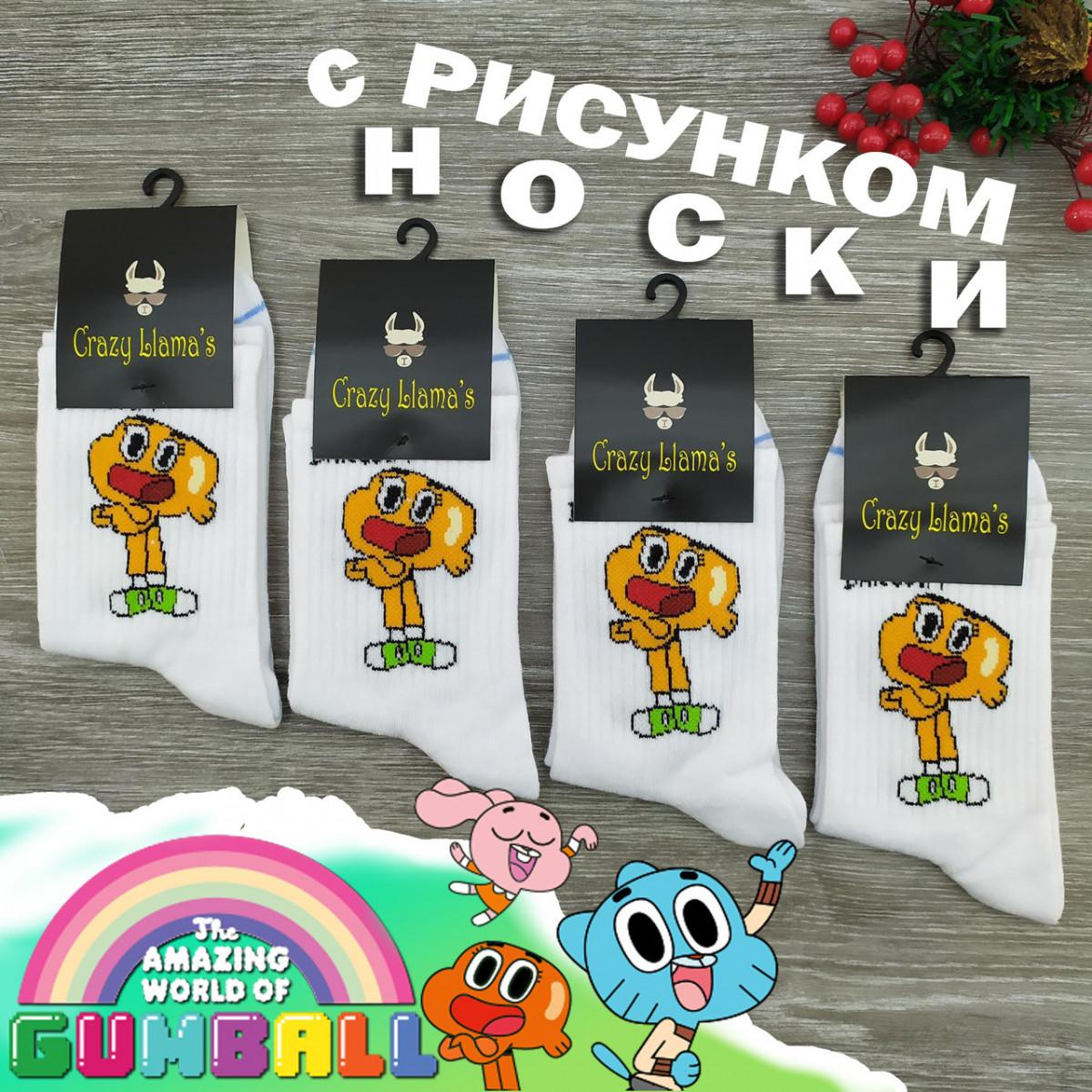 Носки с приколами демисезонные Crazy Lama 222-83 Турция one size (37-43р) 20036409