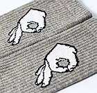 Носки с приколами демисезонные LOMM 0115 Жесты ОК серые Украина размер 40-45 20035273, фото 4