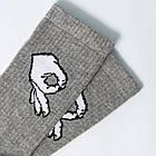 Носки с приколами демисезонные LOMM 0115 Жесты ОК серые Украина размер 40-45 20035273, фото 5