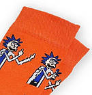 Носки с приколами демисезонные Neseli Coraplar Daily Oranj Rick 9829 Турция one size (37-43р) 20034658, фото 2