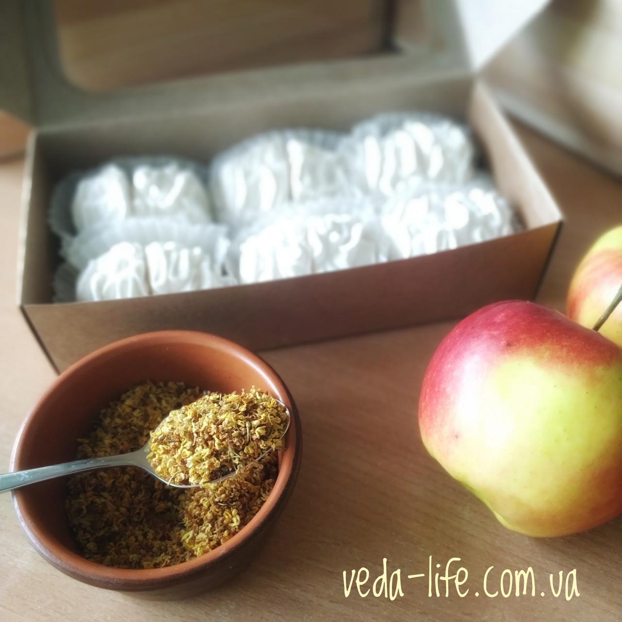 Зефир натуральный на агаре (6 шт. из 2-х половинок) в коробочке. Палитра вкусов на выбор, 200 грамм