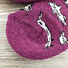 Носки женские махровые высокие GRAND 23-25р коровы фиолетовые, фото 6