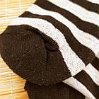 Носки женские махровые высокие полосатые Рубеж-текс 23-25р черные 20038212, фото 4