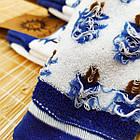 Носки женские махровые высокие с рисунком Рубеж-текс 23-25р ёлки белые 20038151, фото 5