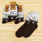 Носки женские махровые высокие с рисунком Рубеж-текс 23-25р олень черные 20038250, фото 2