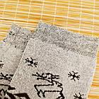 Носки женские махровые высокие с рисунком Рубеж-текс 23-25р олень черные 20038250, фото 6