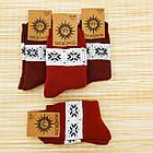 Носки женские махровые высокие с рисунком Рубеж-текс 23-25р орнамент бордовые 20038168, фото 3