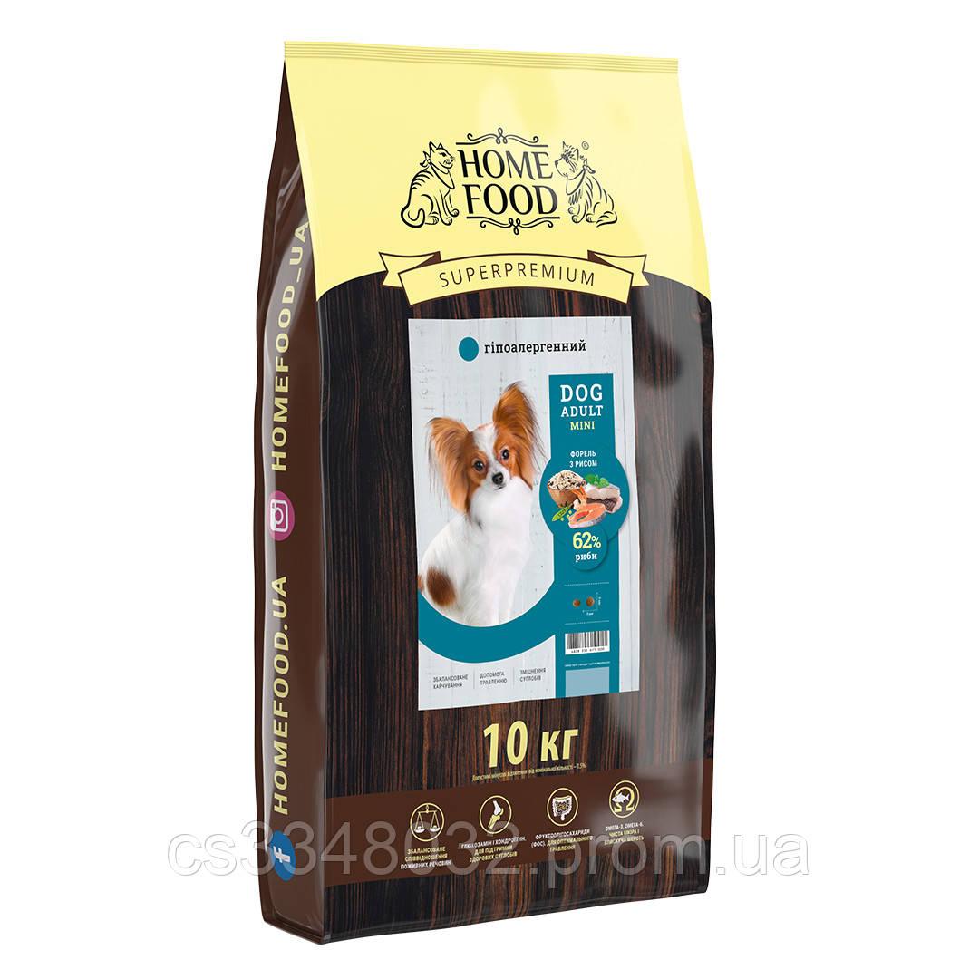 Home Food DOG ADULT MINI   «Форель с рисом» гипоаллергенный корм для собак мелких пород  10кг