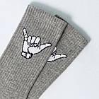 Носки с приколами демисезонные ароматизированные LOMM Жесты Алло 0116 серые Украина 40-45 размер 20035297, фото 2