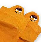 Носки с приколами демисезонные короткие Neseli Coraplar Emoji Orange Embroidered 7406 Турция one size (37-44р), фото 2