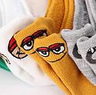 Носки с приколами демисезонные короткие Neseli Coraplar Emoji Orange Embroidered 7406 Турция one size (37-44р), фото 7