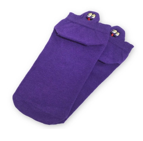 Носки с приколами демисезонные короткие Neseli Coraplar Emoji Purple Embroidered 7407 Турция one size (37-44р)