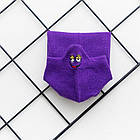 Носки с приколами демисезонные короткие Neseli Coraplar Emoji Purple Embroidered 7407 Турция one size (37-44р), фото 4