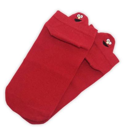 Носки с приколами демисезонные короткие Neseli Coraplar Emoji Red Embroidered 7405 Турция one size (37-44р)