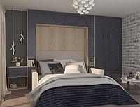 Шкаф-кровать трансформер, встроенный в стенку в гостиную