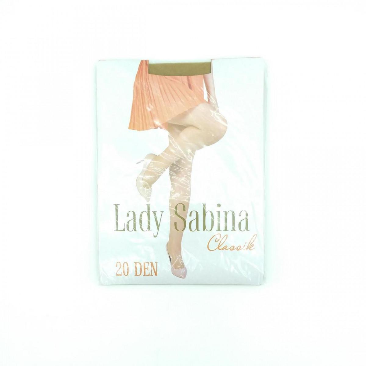 Колготки капроновые женские Lady Sabina, 20DEN, классика, размер 6, бежевые, 20024789