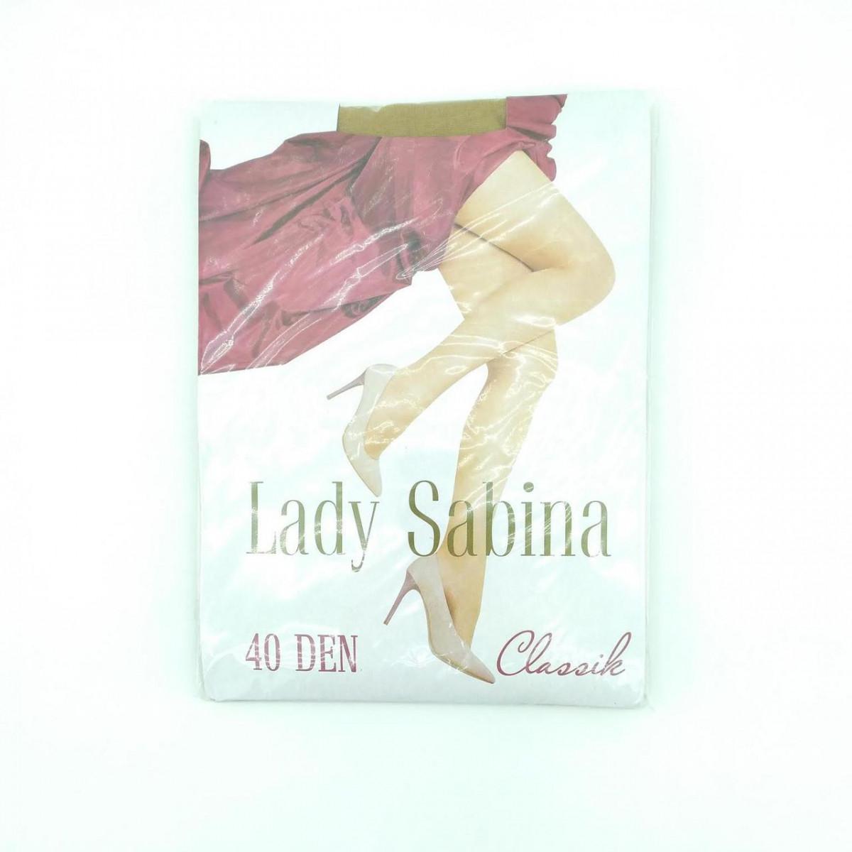 Колготки капроновые женские Lady Sabina, 40DEN, классика, размер 5, бежевые, 20024956