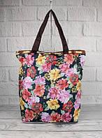 Сумка хозяйственная трансформер текстильная цветы LeSports 9801-24, фото 1