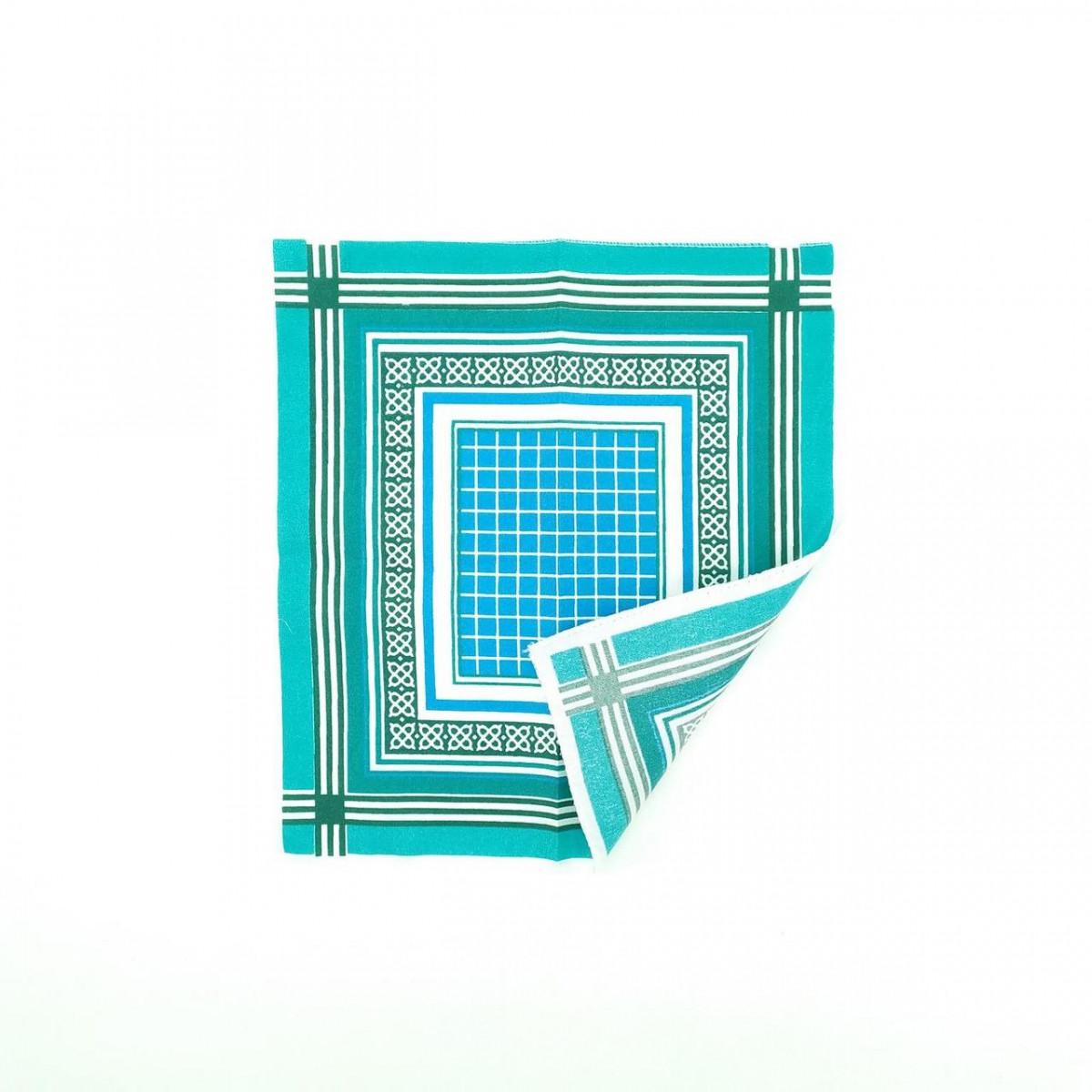 Платок носовой с геометрическим узором, 30х30см, хлопок, Украина, ассорти, 20022228