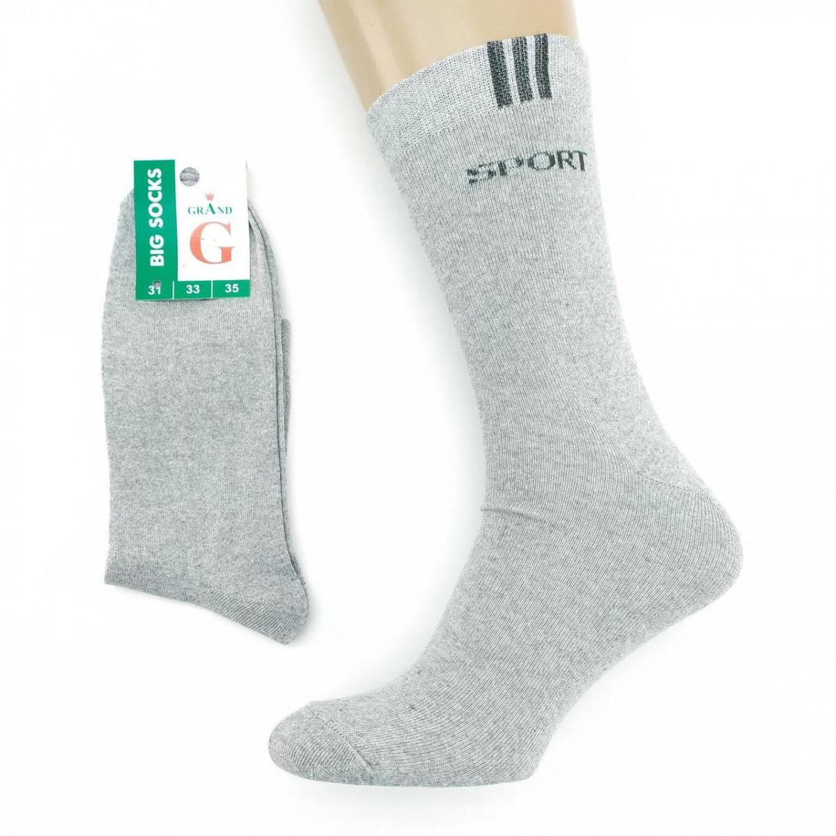 Носки мужские демисезонные высокие SPORT 31р серые 20037703