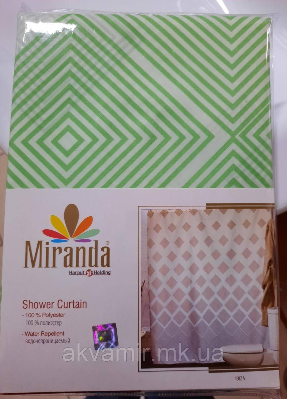 Штора в ванную Miranda Ibiza (Турция) 180х200 см зеленая