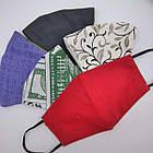Маска защитная женская, многоразовая, хлопок 100%, Украина, случайное ассорти, 20030520, фото 3
