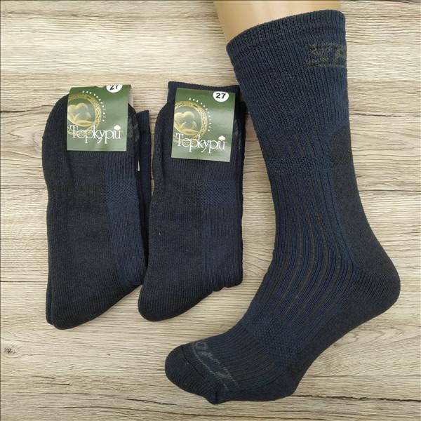 Мужские махровые носки ТЕРКУРІЙ Украина №701 27 размер синие НМЗ-040417